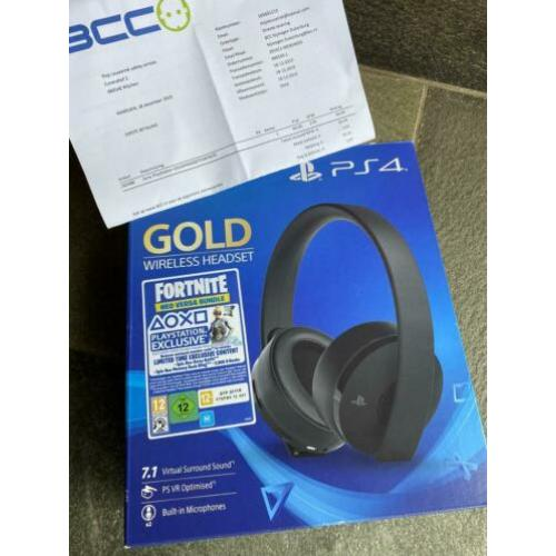 Sony Gold Wireless Headset PS4